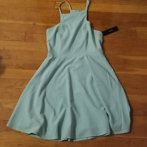 Seafoam green skater dress